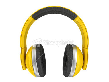Yellow Big Earphones