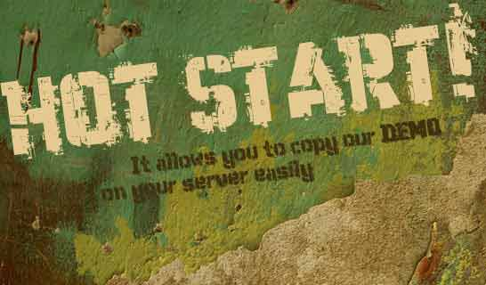 HOT Start allows you to make a copy of this DEMO site on your server easily.
