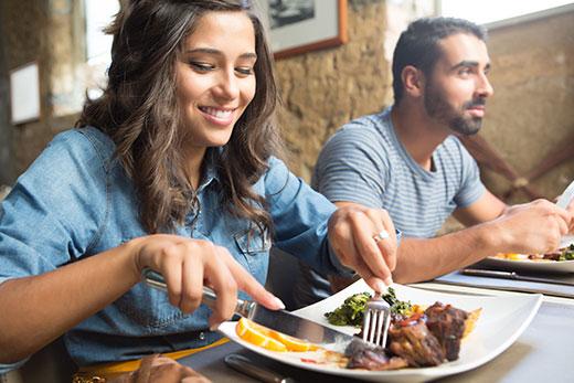Girl in restaurant