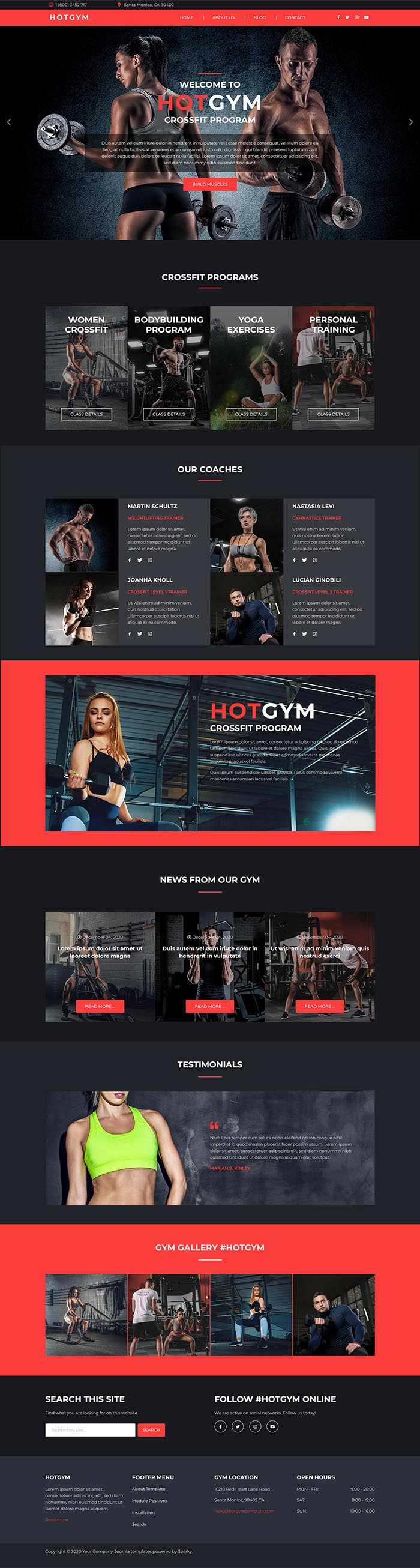 Hot Gym template