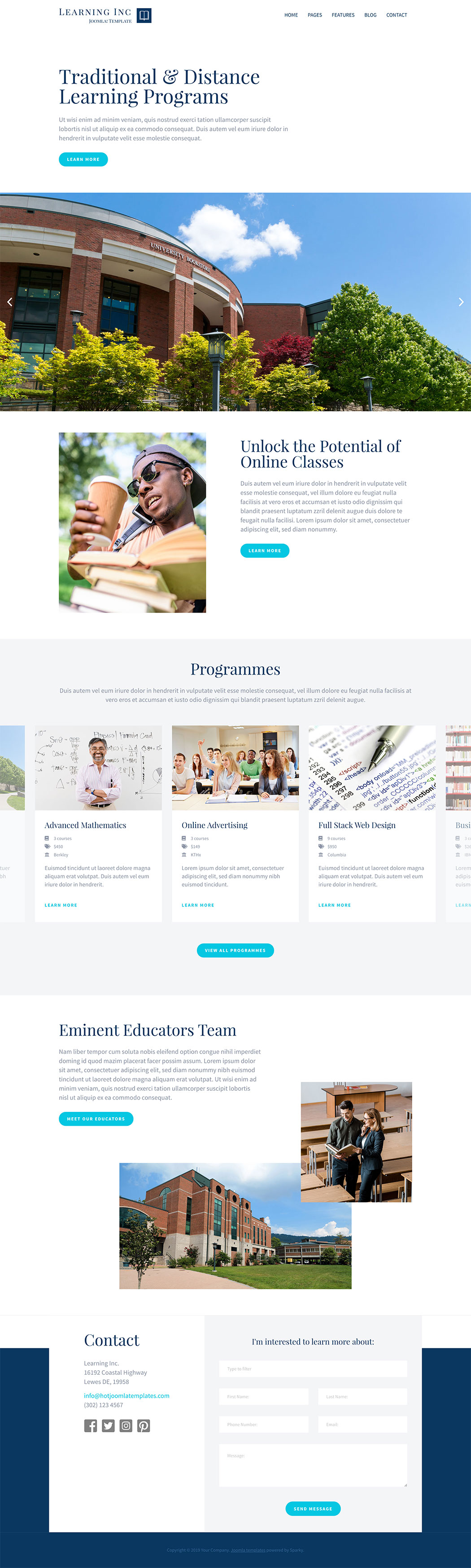 Learning Joomla! template