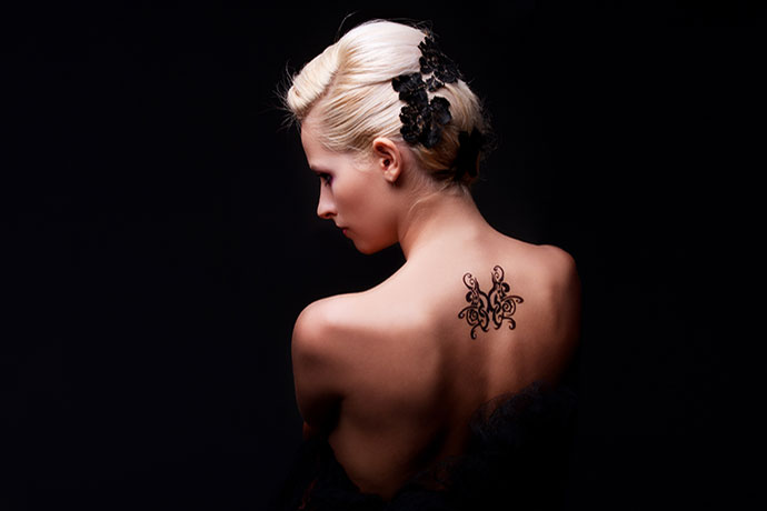 Tattoo on Girl's Back
